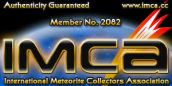 We are proud member of International Meteorite Collectors Association